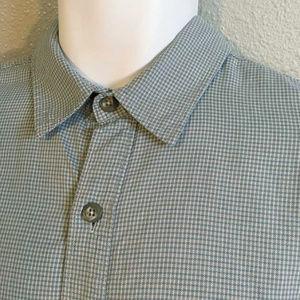 Patagonia organic cotton green check shirt L